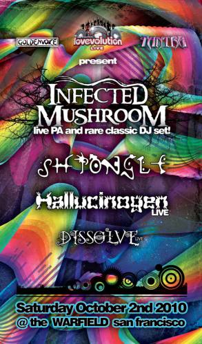 Infected Mushroom & Shpongle @ The Warfield