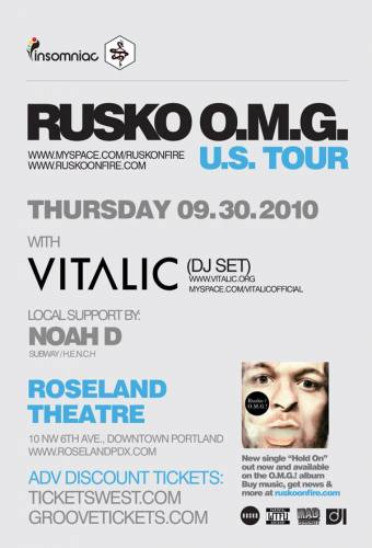 Rusko w/ Vitalic @ Roseland Theater