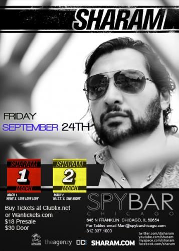 Sharam @ Spybar (9/24)