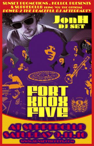 FORT KNOX 5 headlines official Power 2 the Peaceful DJ Afterparty at Supperclub