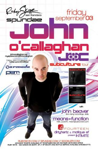 John O'Callaghan @ Ruby Skye