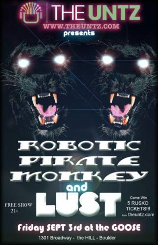 Robotic Pirate Monkey & Lust @ The Goose