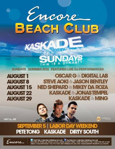 Encore Beach Club presents KASKADE SUNDAYS ft. Kaskade (8/29)