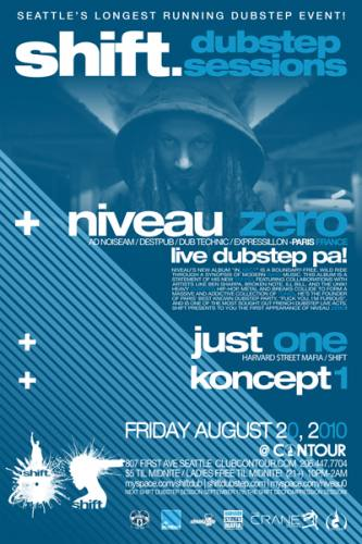 Shift Dubstep Sessions presents NIVEAU ZERO LIVE! (PARIS)