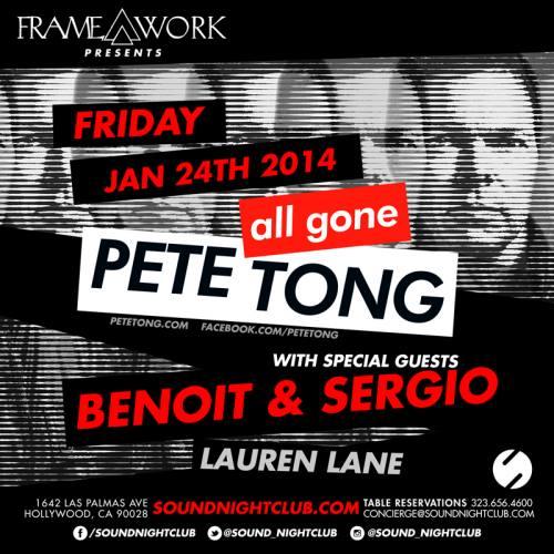 Pete Tong @ Sound Nightclub (01-24-2014)