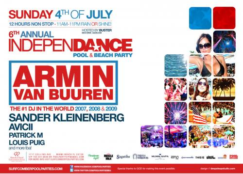 6TH ANNUAL IndepenDANCE Pool & Beach Party