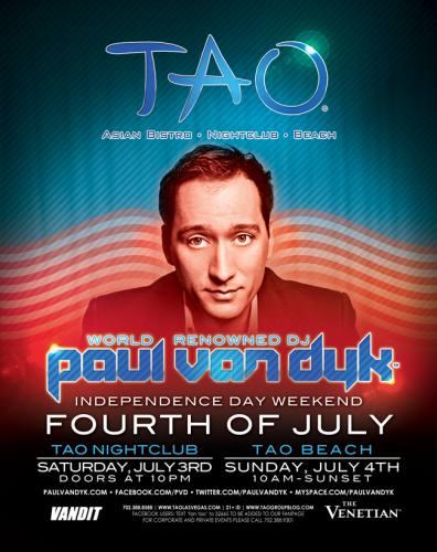 Independence Day Celebration @ Tao Las Vegas w/ PAUL VAN DYK