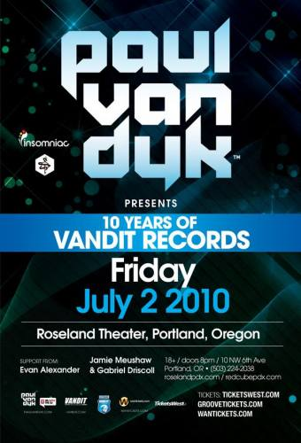 Paul Van Dyk @ Roseland Theater (7/2)