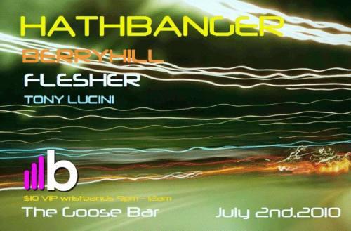 HATHBANGER ++BERRYHILL ++ FLESHER +@THE GOOSE ++FRIDAY!!