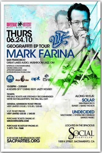 Mark Farina @ The Social