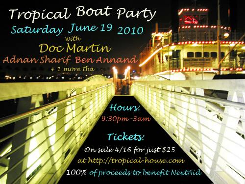 Tropical Boat Party with Doc Martin