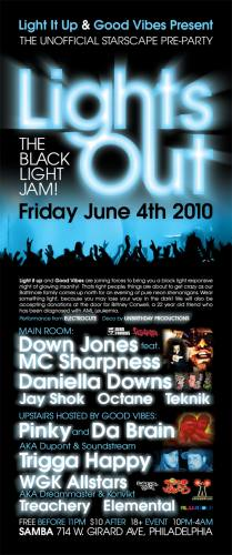 LIGHTS OUT - UNOFFICIAL STARSCAPE PRE PARTY