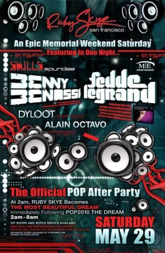 The Official POP After Party (LATE NIGHT 5/29)