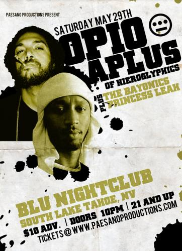 Aplus & Opio of Hieroglyphics & more @ BLU Nightclub
