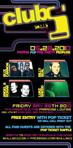 Club S // poppin POP pre-party people!