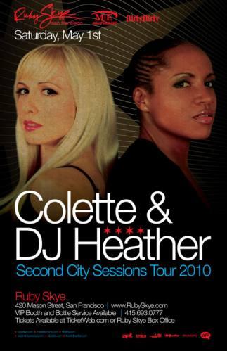 Colette & DJ Heather @ Ruby Skye