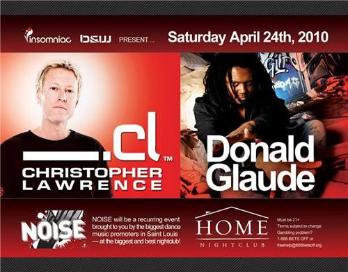 Christopher Lawrence & Donald Glaude @ Home