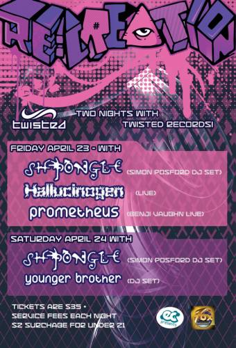 Shpongle + Hallucinogen + Prometheus @ The Fox Theater (Boulder) - 4/23