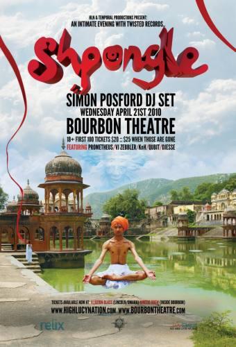 Shpongle (DJ) / Prometheus / VJ Zebbler @ Bourbon Theatre