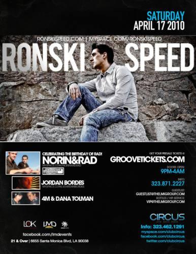 Ronski Speed @ Circus