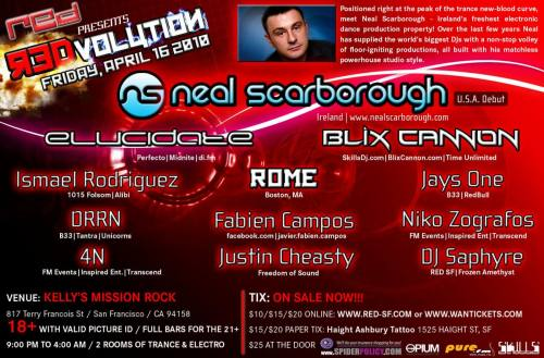 [RED SF] REDvolution with NEAL SCARBOROUGH (Ireland) *USA DEBUT*