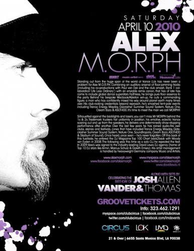 LMD presents Alex M.O.R.P.H. @ Circus