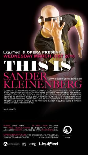 Sander Kleinenberg @ Opera