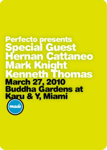 Perfecto presents Special Guest and more @ Buddha Gardens
