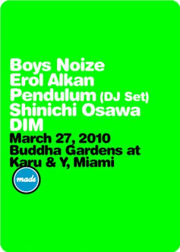 Boys Noize, Erol Alkan, and more @ Karu & Y (Buddha Gardens)