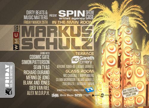 Dirty Beats + Music Matters presents Markus Schulz and more