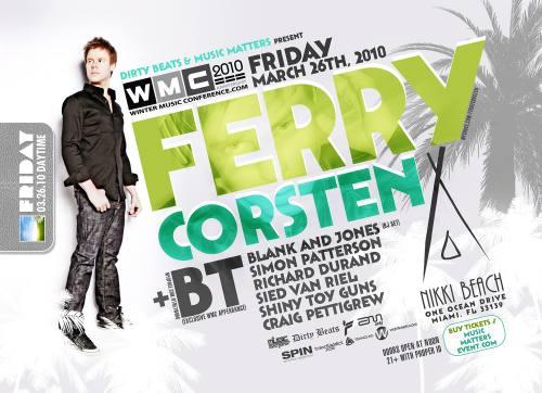 Dirty Beats + Music Matters presents Ferry Corsten