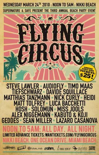 FLYING CIRCUS: WMC 2010 @ Nikki Beach