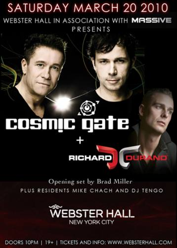 COSMIC GATE & RICHARD DURAND at WEBSTER HALL