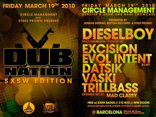 Dub Nation SXSW Edition featuring Dieselboy, Excision and more