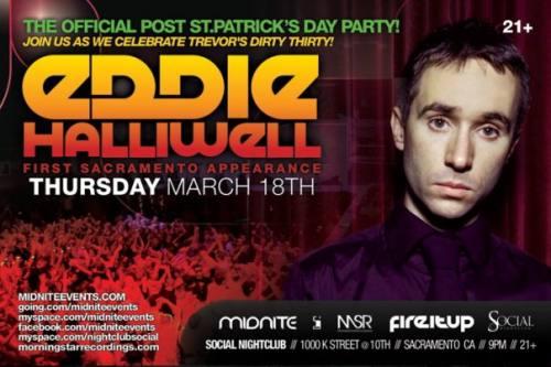 MIDNITE & SOCIAL Nightclub present Eddie Halliwell