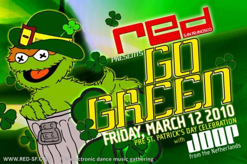 [RED SF] GO GREEN with JOOP (NL) Pre St Patrick's Day Party