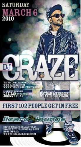Craze @ Lizard Lounge