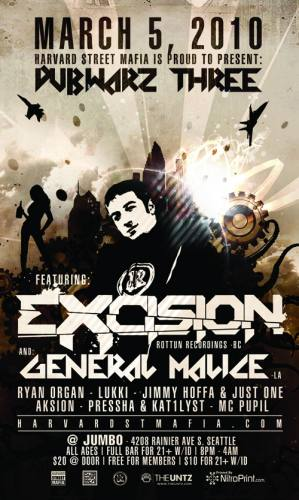 H$M Presents DubWarz 3 - Time to Get Wasted w/ Excision & General Malic