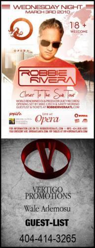 Robbie Rivera @ Opera