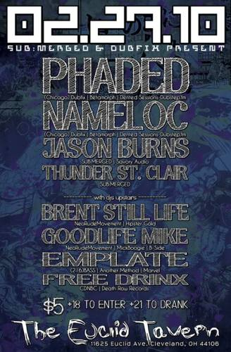 PHADED, NAMELOC, Jason Burns and more