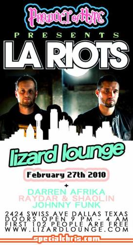 LA Riots @ Lizard Lounge