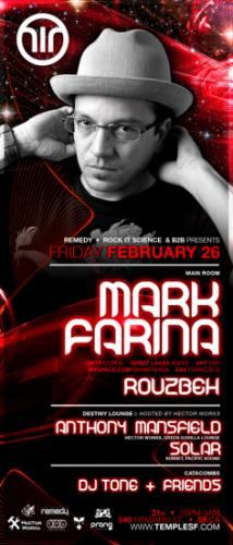 Mark Farina at Temple Fridays