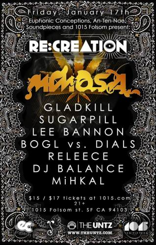 RE:CREATION: Mimosa LIVE @ 1015 Folsom