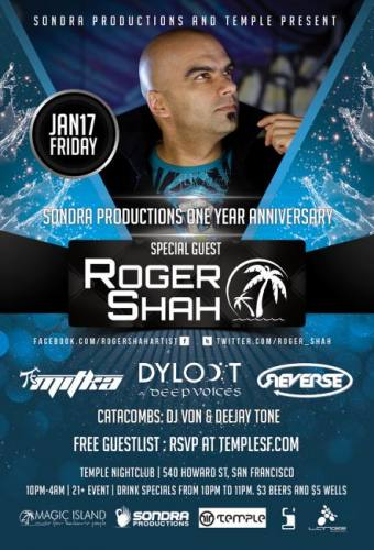 Temple and Sondra Productions Presents Roger Shah