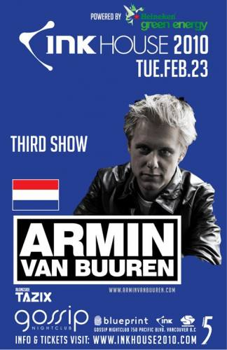 INK HOUSE 2010: ARMIN VAN BUUREN (NIGHT 3)