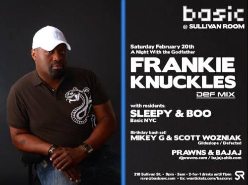 KGB & Basic NYC present Frankie Knuckles
