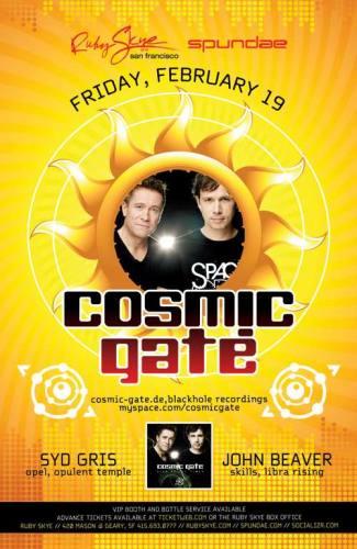 Cosmic Gate @ Ruby Skye