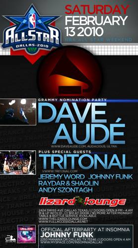 NBA ALL STAR WEEKEND with DAVE AUDÉ & TRITONAL