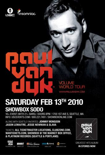 PAUL VAN DYK: SHOWBOX