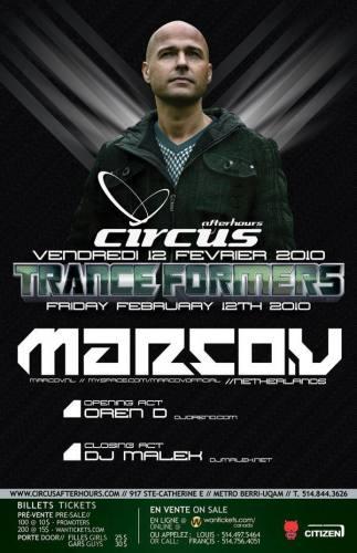 Tranceformers - Legends Edition w/ Marco V